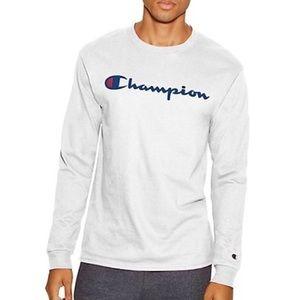 Champion White Long Sleeve T-Shirt